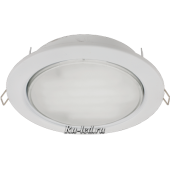 Ecola Light GX70-H5 светильник белый встр. без рефл. с лампой  GX70 13W Tablet 220V GX70 2700K 53x151