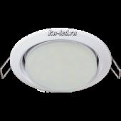 Ecola Light GX53 H4 LED светильник Белый встр.без рефл. с лампой GX53 LED 6,0W 2800К матовое стекло 38x106