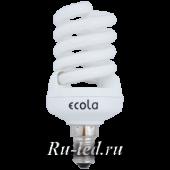 Ecola Spiral 20W Full New 220V E14 6400K  104x45