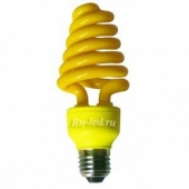 Ecola Spiral Color 15W 220V E27 Yellow Желтый 124x45