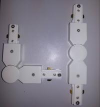 Коннекторы поворотные белые для направляющих Две фазы