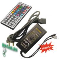 Ecola LED strip RGB IR controller моноблок с блоком питания  72W 12V 6A с большим инфракрасным пультом управления