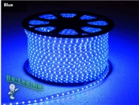Ecola LED strip 220V STD  4,8W/m IP68 12x7 60Led/m Blue синяя лента 10м.