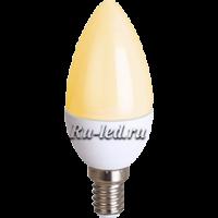 Ecola candle   LED Premium  8,0W 220V E14 золотистая свеча (композит) 100x37