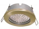 Ecola GX53 H9 защищенный IP65 светильник встраив. без рефл. золото 98х55