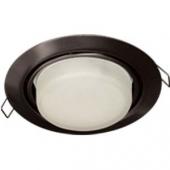 Ecola GX53 FT9073 светильник встраиваемый поворотный черный хром 40x120