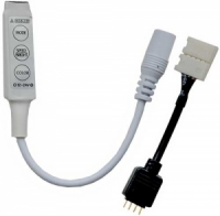 Ecola LED strip RGB mini controller 6A 72W 12V (144W 24V) с переходником с кнопками для управления