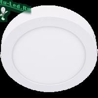 Ecola LED downlight накладной Круглый даунлайт с драйвером  6W 220V 2700K 120x32