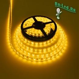 светодиодная алюминиевая лента Ecola LED strip 220V STD 4,8W/m IP68 12x7 60Led/m Yellow желтая лента на катушке 50м