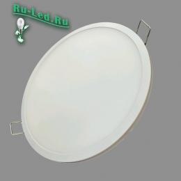 круглые встраиваемые led светильники гармонично впишутся в дизайн подвесного или натяжного потолка 307R-Тр-16W-4000K Светильник LED встраиваемый