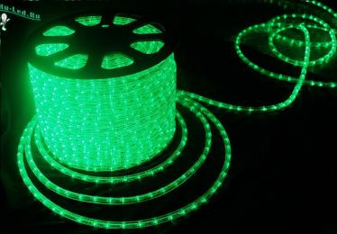 Ecola LED strip 220V STD  4,8W/m IP68 10x6 60Led/m Green зеленая лента 100м.