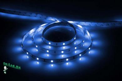 светодиодная лента 5м с приглушенным светом и множеством цветовых решений Ecola LED strip STD 14.4W/m 12V IP20 10mm 60Led/m Blue синяя светодиодная лента на катушке 5м