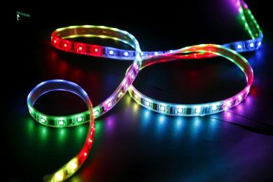светодиодная лента rgb led приобретите и ваш дом заиграет новыми красками Ecola LED strip 220V STD 8,6W/m IP68 16x8 108Led/m RGB-S сегментированная разноцветная лента 50м