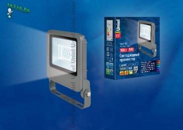 светодиодный прожектор потребляемая мощность помогут вам экономить электричество ULF-F17-10W/DW IP65 195-240В SILVER