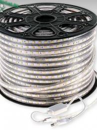 Ecola LED strip 220V STD  9,6W/m IP68 12x7 120Led/m 6000K 4Lm/LED 480Lm/m лента  100м.