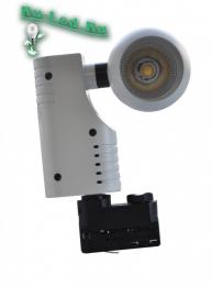 трехфазный трековый светильник закажите у нас и оцените его достоинства! 021-20W-4000K Трековый светильник трёх фазный (нейтральный белый)