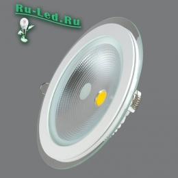 Светильник светодиодный потолочный встраиваемый круглый закажите, чтобы привнести в интерьер некий элемент оригинальности 703R-15W-3000K Светильник встраиваемый,круглый,со стеклом,LED,15W