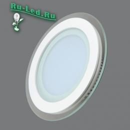 Офисные светодиодные led светильники отвечают всем запросам современных потребителей 705R-12W-4000K Светильник встраиваемый,круглый,со стеклом,LED,12W