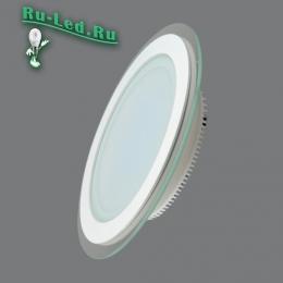 светильник потолочный встраиваемый круглый установите и вам еще долгое время не понадобится замена ламп 705R-18W-6000K Светильник встраиваемый,круглый,со стеклом,LED,18W