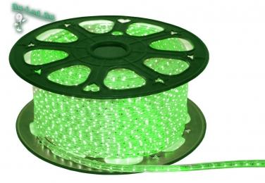 Светодиодная лента 5050 60 Ecola LED strip 220V STD 14,4W/m IP68 14x7 60Led/m Green зеленая лента на катушке 50м