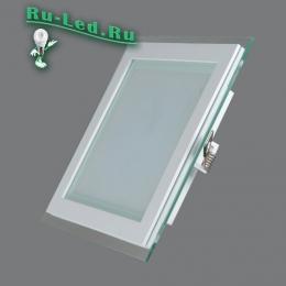 встроенный светодиодный квадратный светильник, рекомендованный как самый щадящий для человеческого глаза 705SQ-18W-4000K Светильник встраиваемый,квадратный,со стеклом,LED,18W