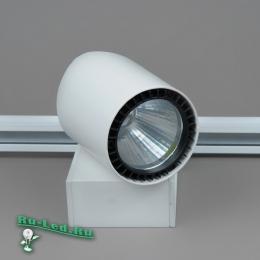 трековые светодиодные светильники на шинопроводе характеризуются экономичностью, длительностью эксплуатации, универсальностью 04-30W LED COB 6000K (WH) Трековый светильник Черный круг