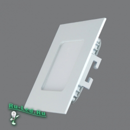 ультратонкие квадратные светодиодные светильники спокойно вынесут повышенную влажность воздуха и брызги 102SQ-3W-3000K Cветильник квадратный LED, 3W