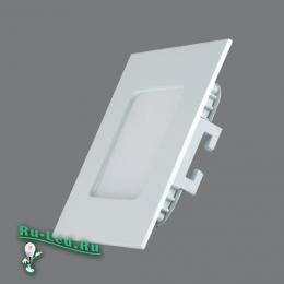 Тонкие led светильники идеально вписываются в офисный ландшафт 102SQ-3W-6000K Cветильник квадратный LED, 3W