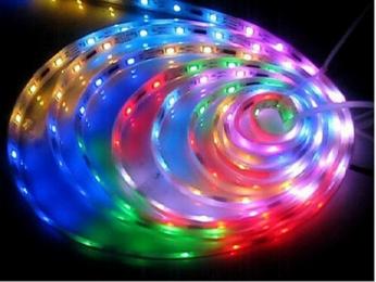 светодиодная лента rgb купить 220V STD 8,6W/m IP68 16x8 108Led/m RGB разноцветная лента на катушке 20м