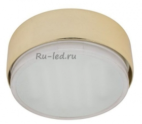 накладные точечные светильники потолочные Ecola GX53 FT8073 светильник накладной золото 25x82
