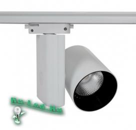 светильник светодиодный трековый 30w достойный образец красивой, долговечной и качественной светотехники 031-Тр-30W-4000K Светильник LED трековый однофазный белый