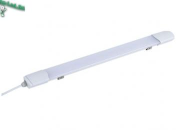 Светильник эконом ЖКХ там, где нет отопления и повышен уровень влажности Ecola LED linear IP65 тонкий линейный светодиодный светильник (замена ЛПО) 20W 220V 6500K 585x60x30