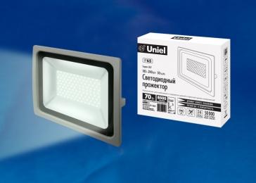 светодиодный прожектор IP65 цена способна эксплуатироваться при любых условиях внешней среды ULF-F16-70W/DW IP65 185-240В SILVER