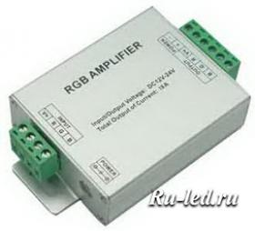 AMP216ESB rgb контроллеры ecola led strip rgb amplifier 216w 12v 18a усилитель для rgb ленты (с винтовыми клеммами)