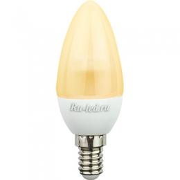 диодные свечи Ecola candle LED 4,2W 220V E14 золотистая полуматовая свеча искристая пирамида (композит) 98x36