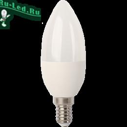 лампочка led e14 дешего с доставкой по интернете онлайн Ecola candle LED 7,0W 220V E14 6000K свеча (композит) 105x37
