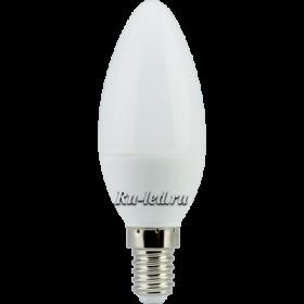 лампы светодиодные с цоколем е14 Ecola candle LED 6,0W 220V E14 4000K свеча (композит) 101x37