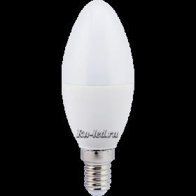 Светодиодная лампа свеча 7w Ecola candle LED 7,0W 220V E14 2700K свеча (композит) 110x37