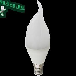 Ecola candle   LED Premium 10,0W 220V E14 2700K свеча на ветру (композит) 129x37
