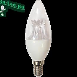 лампочки светодиодные e14 свеча купить по ценам интернет портала онлайн Ecola candle LED Premium 8,0W 220V E14 6000K прозрачная свеча с линзой (композит) 105x37