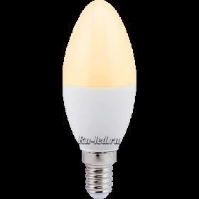 лампа led e14 7w отличается долгим сроком службы и экономичностью Ecola candle LED Premium 7,0W 220V E14 золотистая свеча (композит) 110x37
