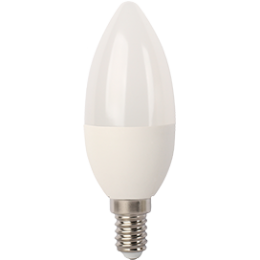 Ecola Light candle   LED  7,0W 220V E14 2700K свеча (композит) 105x37