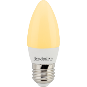 Лампа в виде свечи защищена от перегрева и вполне безопасна Ecola candle LED 6,0W 220V E27 золотистая свеча (композит) 101x37