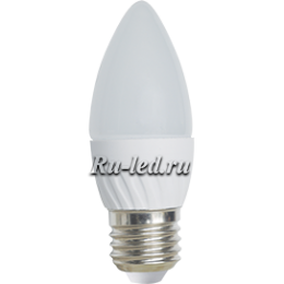 лампа e27 свеча Ecola Light candle LED 6,0W 220V E27 4000K свеча 100x37