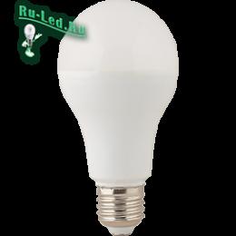 Светодиодная лампа 20 вт е27 заменят сразу несколько осветительных приборов Ecola classic LED Premium 20,0W A65 220-240V E27 4000K (композит) 122x65