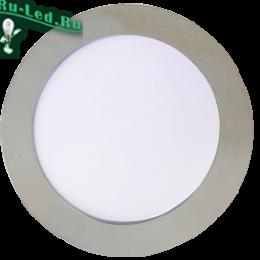 Ecola LED downlight встраив. Круглый даунлайт с драйвером  9W Хром 220V 4200K 145x20