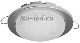 встроенный светильный белый Ecola GX53 H4 Downlight without reflector_satin chrome (светильник) 38х106 - 10 pack (кd102)