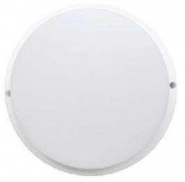 Ecola LED ДПП светильник с датчиком движения Круг накладной IP65 матовый белый 12W 220V 6500K 155x45
