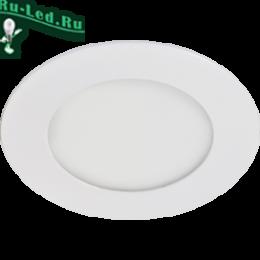 встраиваемые светильники купить в Москве позволяют зрительно увеличивать небольшие помещения Ecola LED downlight встраив. Круглый даунлайт с драйвером 4W 220V 4200K 85x20