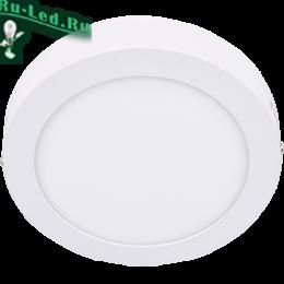 накладной диодный светильник отлично подходит для буквального любого типа помещения Ecola LED downlight накладной Круглый даунлайт с драйвером 12W 220V 6500K 170x32